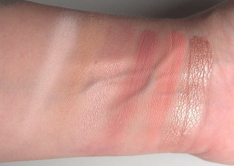 Urban Decay Naked Cherry swatches