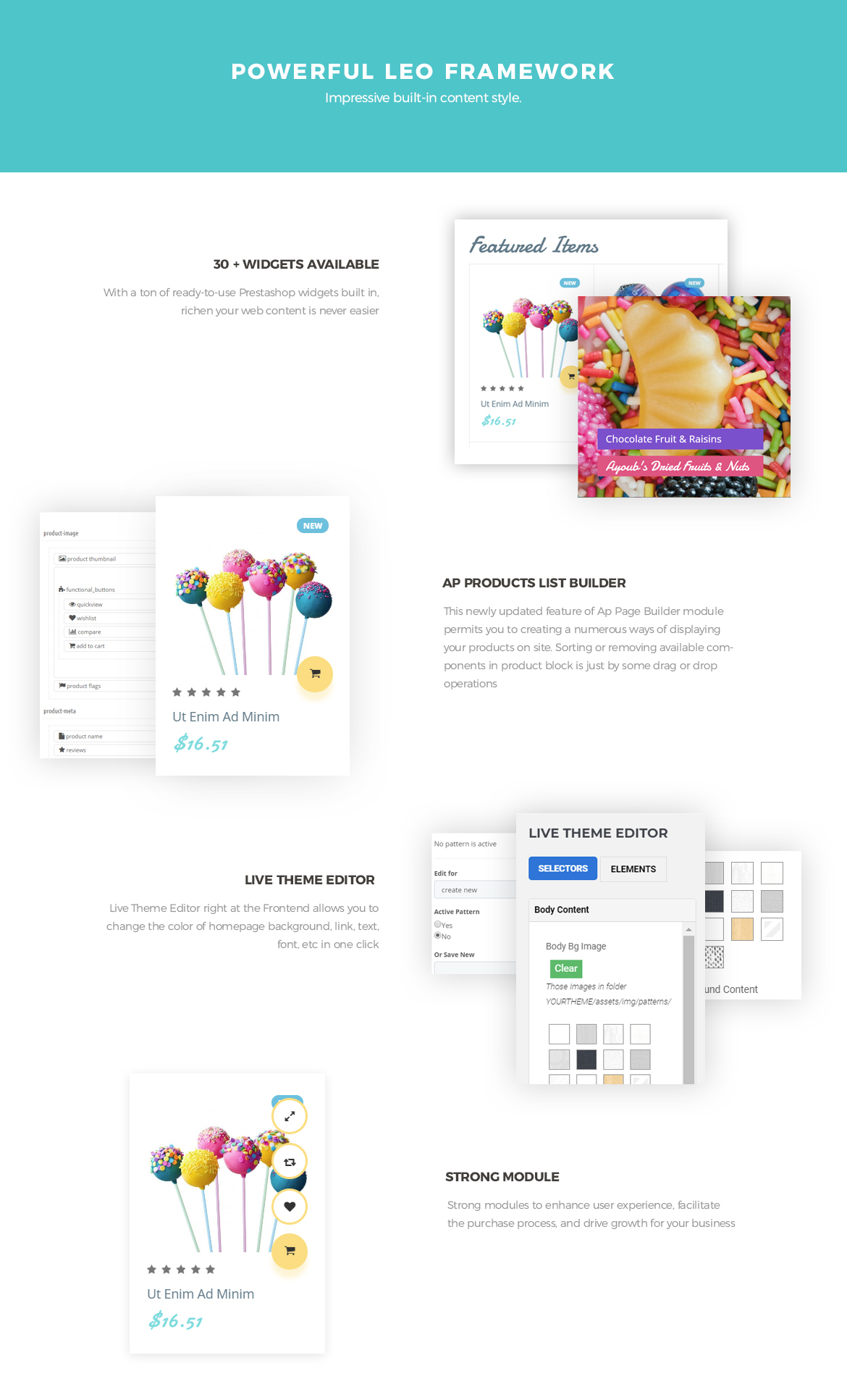 powerful prestashop framework - Leo Lollipop - beautiful sweet, candy, food store