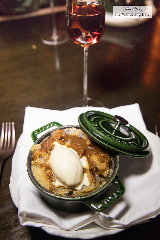 Bread pudding paired with Rare Wine Co. Historic Series Madeira Charleston Sercial Special Reserve