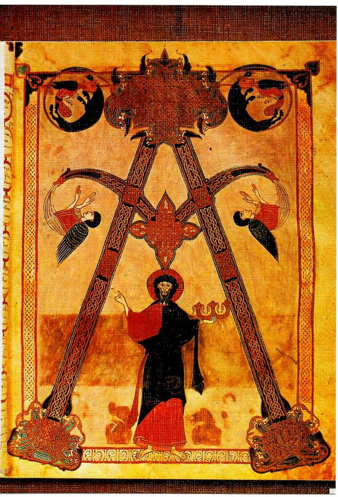 El Señor. Alfa y Omega, apareciéndose entre nubes a los linajes de la tierra. Ap. 1-8 Santo Toribio de Liébana (Cantabria), San Beato de Liébana (siglo VIII),