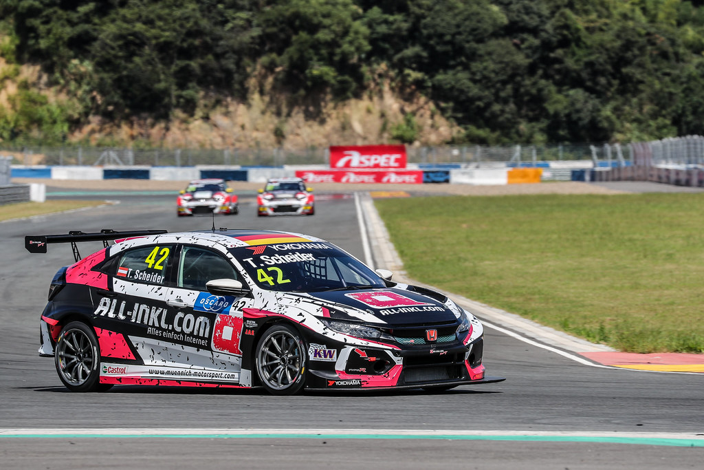 42 SCHEIDER Timo, (deu), Honda Civic TCR team ALL-INKL.COM Munnich Motorsport, actionduring the 2018 FIA WTCR World Touring Car cup of China, at Ningbo  from September 28 to 30 - Photo Marc de Mattia / DPPI