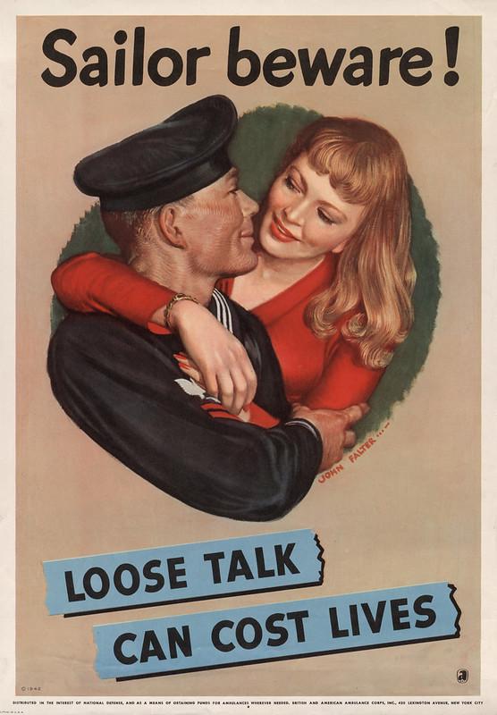 Sailor beware! - loose talk can cost lives (1942) - John Philip Falter (1910-1982)