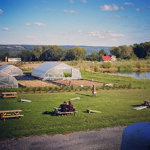 View from the deck at Finger Lakes Cider House #cider #ithaca #fingerlakes