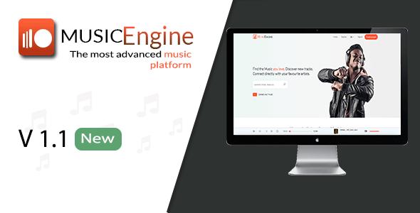 MusicEngine v1.1 – Social Music Sharing Platform