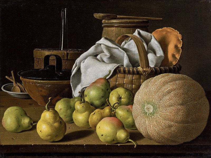 Luis Meléndez - Still Life with Melon and Pears (c.1772)