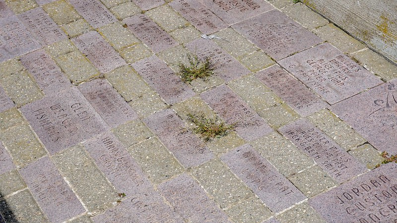 In Memory of ... Names inscribed on plaques