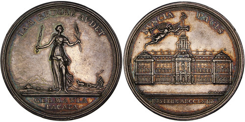 1763 Seven Years' War Silver Medal 1
