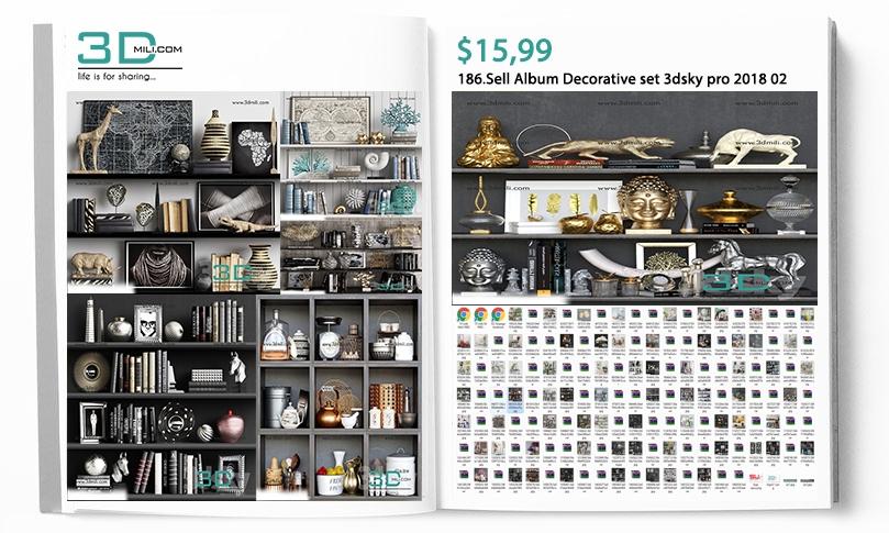 186 Sell Album Decorative set 3dsky pro 2018 02 - 3D Mili - Download 3D  Model - Free 3D Models - 3D Model Download