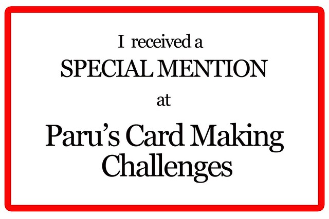 Paru's Card Making Challenge - Special mention