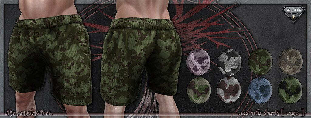 [ new release – aesthetic shorts [ camo ]