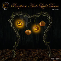 F&M * Pumpkins  Arch Light Decor