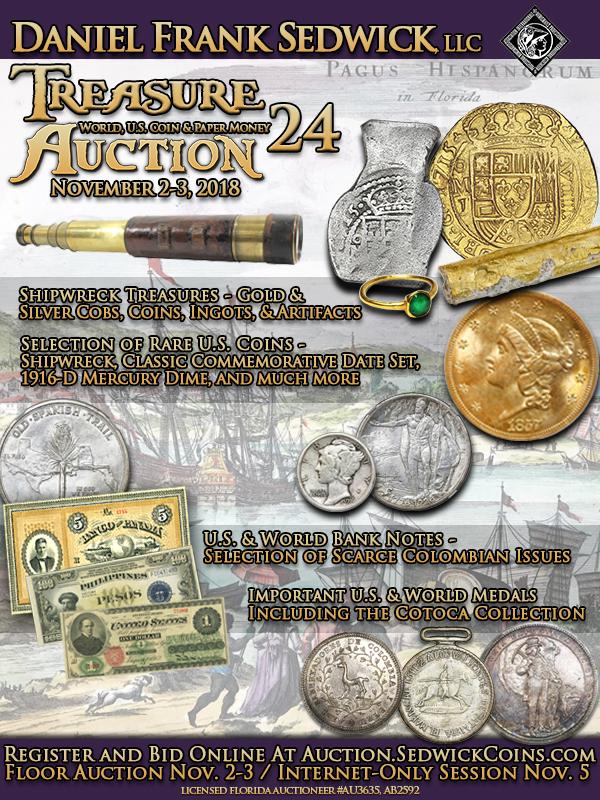 Sedwick E-Sylum ad 2018-10-28 Auction 24