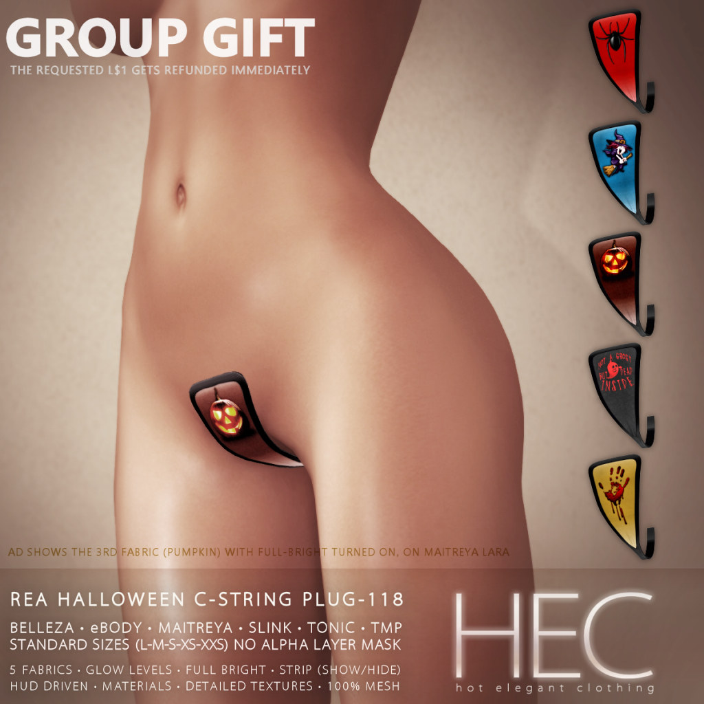 HEC (GROUP GIFT) • REA HALLOWEEN C-STRING PLUG-118