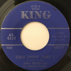 JAMES BROWN AND THE FAMOUS FLAMES:COLD SWEAT(LABEL SIDE-A)