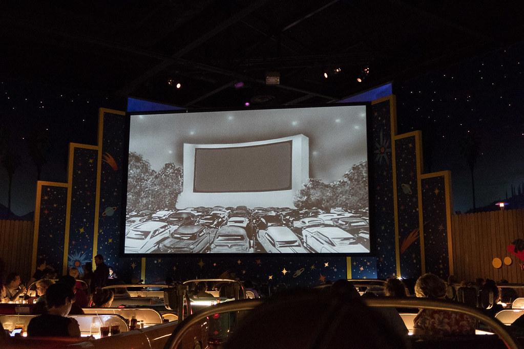 Movie Screen at Sci Fine Dine In