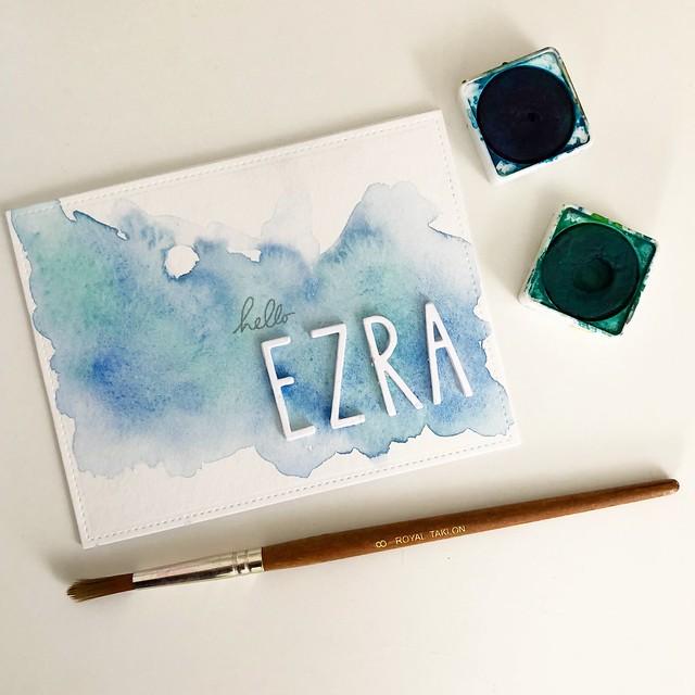 Baby Ezra card