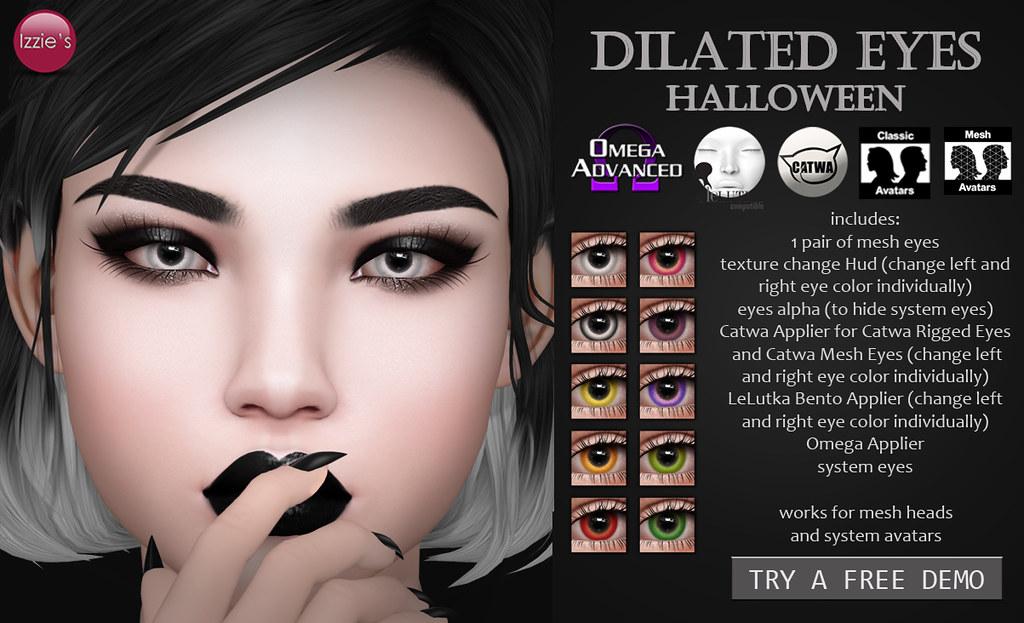 Dilated Eyes Halloween (for Uber) - TeleportHub.com Live!