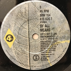 BY ALL MEANS:LET'S GET IT ON(LABEL SIDE-B)