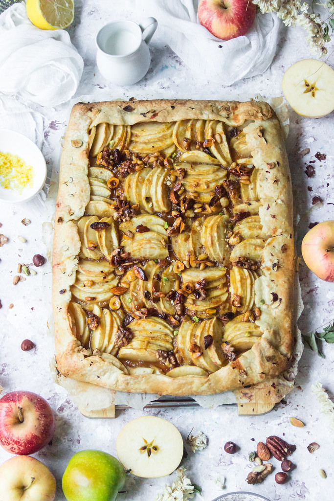 Galette aux Pommes, Caramel de Fruits Secs
