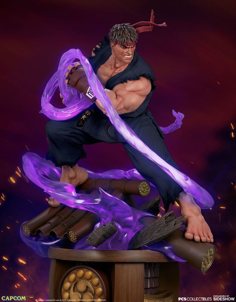 Killing Intent Awakened!!! Pop Culture Shock《Street Fighter V》Evil Ryu 1/4 Scale Statue