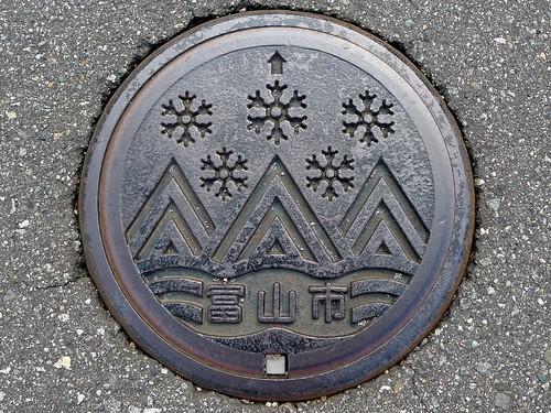 Toyama city Toyama pref, manhole cover 7 (富山県富山市のマンホール7)