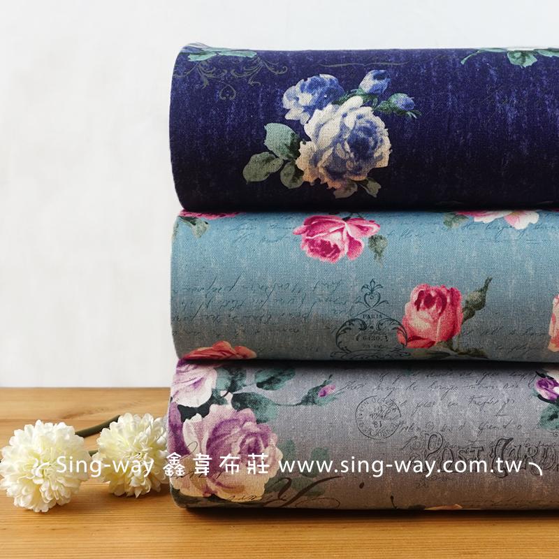 玫瑰花語 Rose 花朵 海報紙 英文字 手工藝DIY布料 CF550706