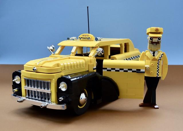 1950's Taxi Cab & Driver..