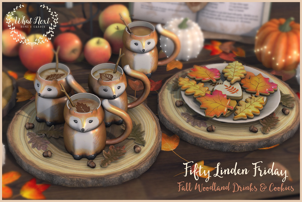 {what next} Fall Woodland Drinks & Cookies for FLF