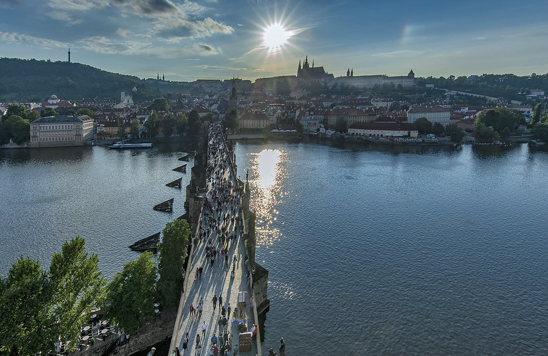 Prague from Old Town Bridge Tower