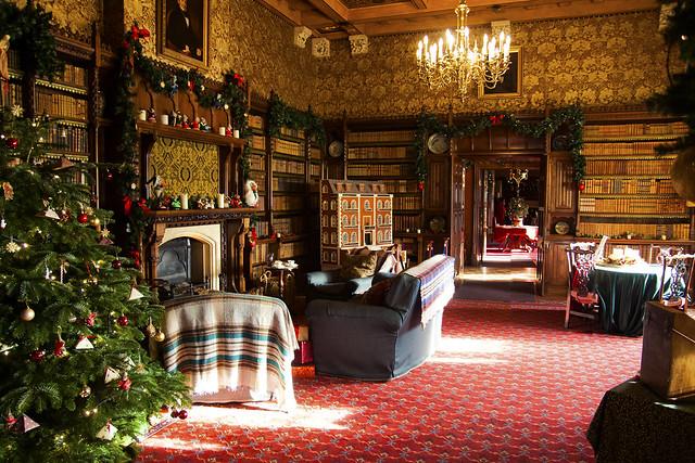 A festive library