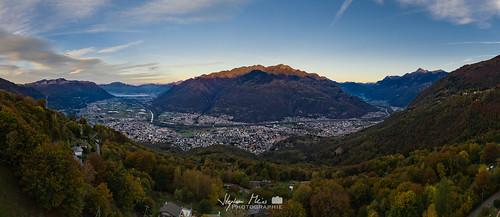 Morning glow over Bellinzona