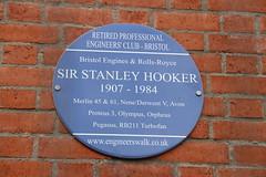 Photo of Stanley Hooker blue plaque