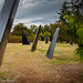 """Warren G. Magnuson Park, Seattle. Like dorsal fins of a pod of Orca, these fins are from submarines. The project is known as """"fin art""""."""