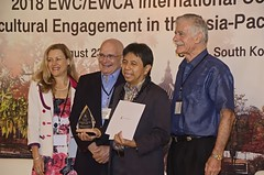 Dr. Alex B. Brillantes, Jr., recipient of the 2018 EWC/EWCA Dr. Alex B. Brillantes, Jr.