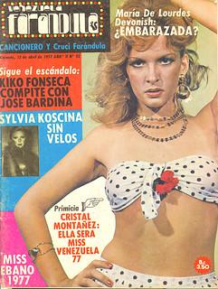 Revista Venezuela Farandula Cristal Montanez Doble de La Mujer Bionica al Miss Venezuela 1977 portada Venezuela Farandula