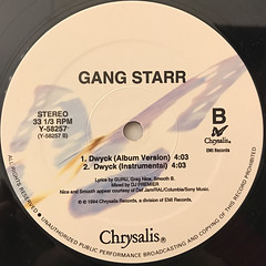 GANG STARR:DWYCK(LABEL SIDE-B)