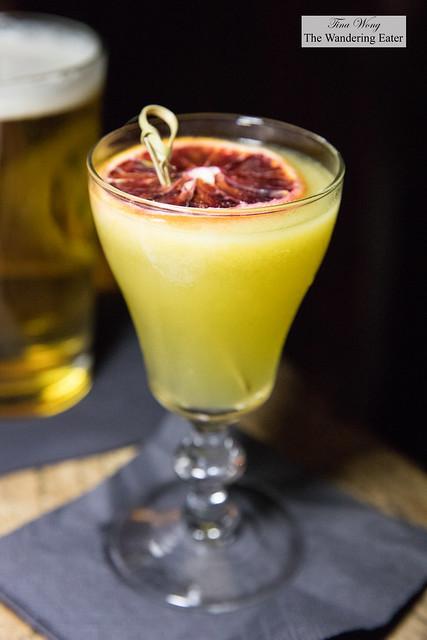Highway Hustle - fresno pepper infused altos blanco tequila, pineapple gomme-kummel liqueur, fresh mango and lemon