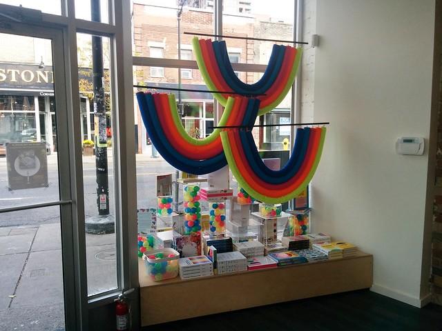 Type in the Junction (3) #toronto #thejunction #dundasstreetwest #typebooks #typebooksjunction #bookstore #rainbow #window #latergram
