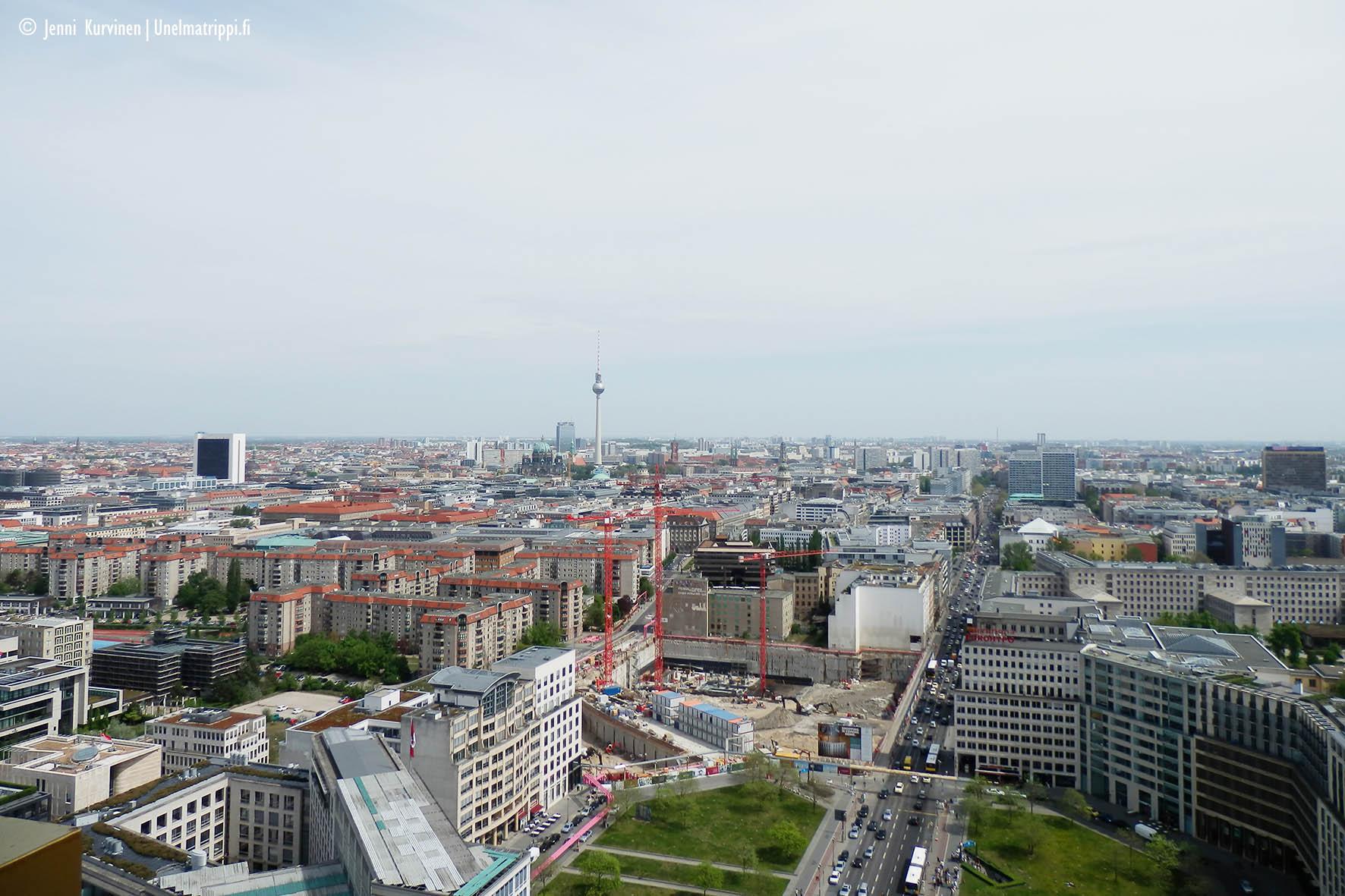 Näkymä Panoramapunkt-näköalapaikalta Potsdamer Platzilla
