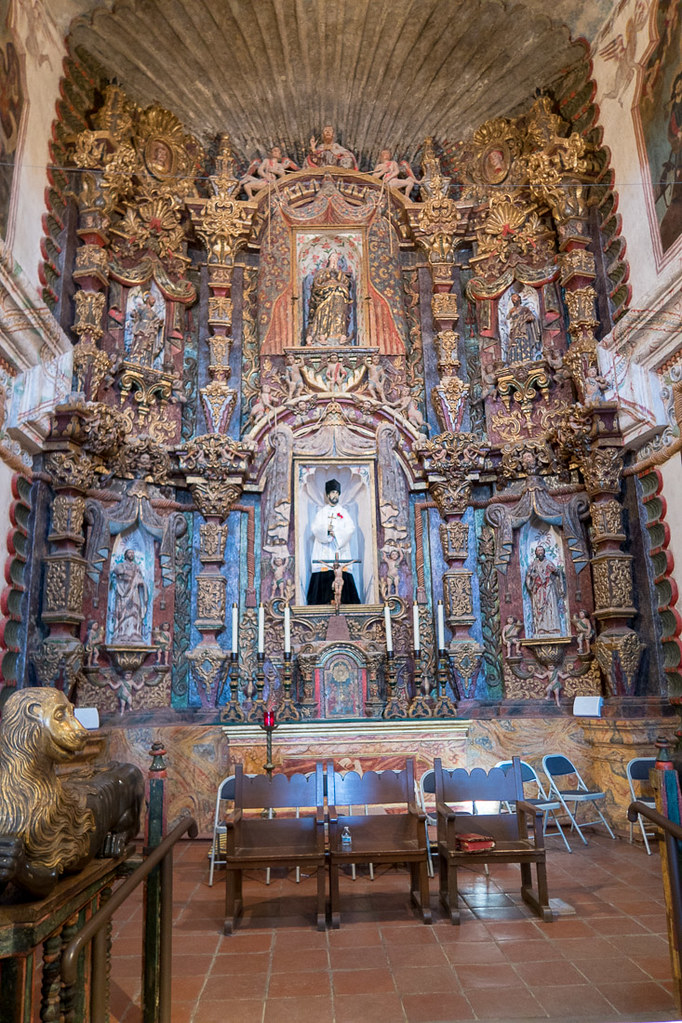 Inside Mission San Xavier