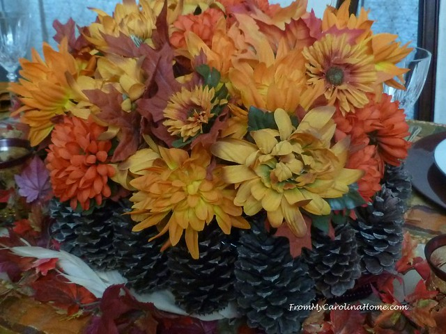 Pine Cone Basket at FromMyCarolinaHome.com