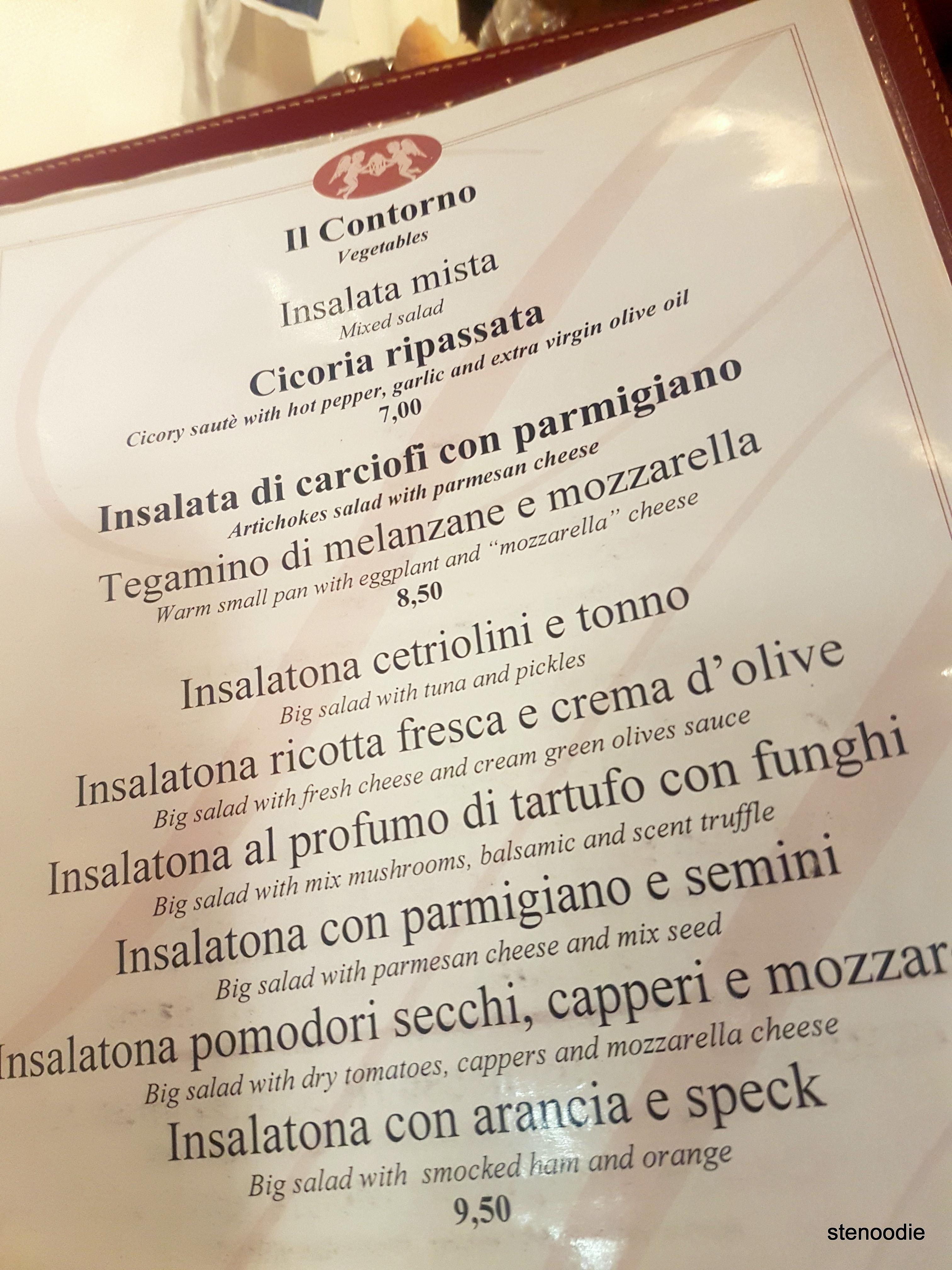 Ristorante Sant'Andrea menu and prices