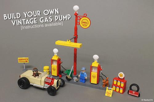 Build your own vintage gas pump