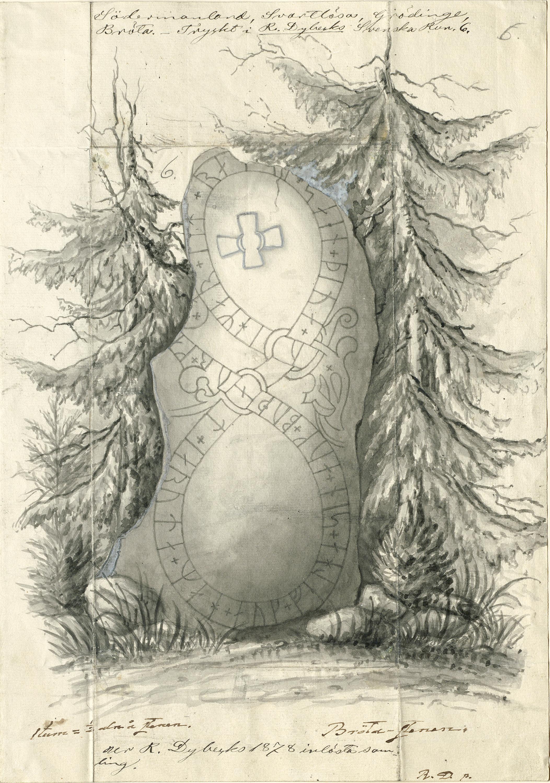 Rune stone, Bröta, Grödinge, Södermanland, Sweden