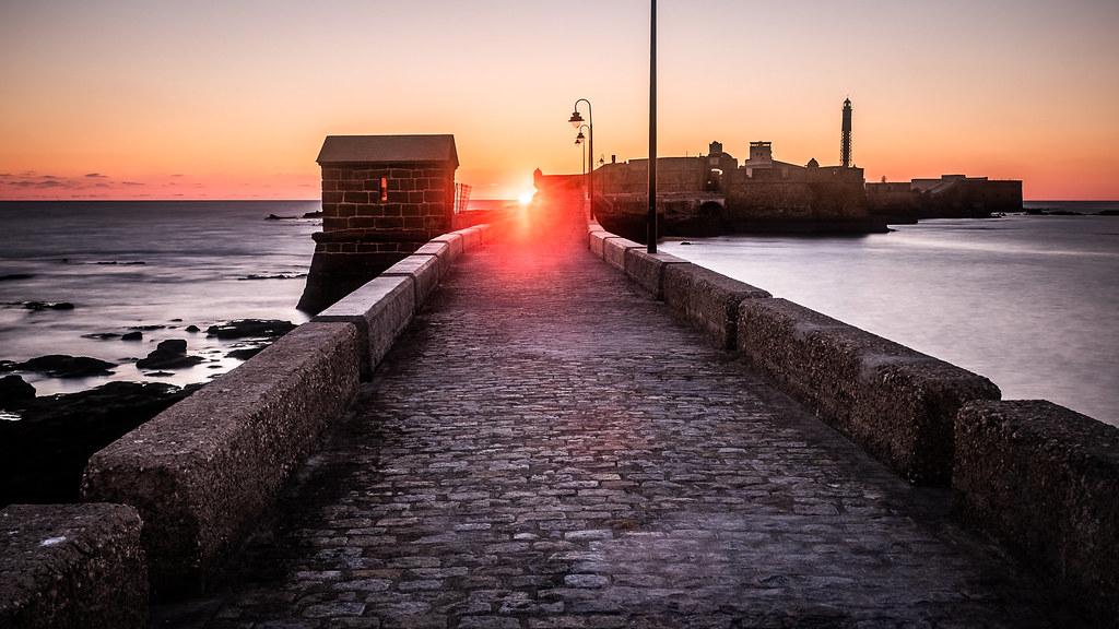 Sunset in Cadiz, Andalucia, Spain picture