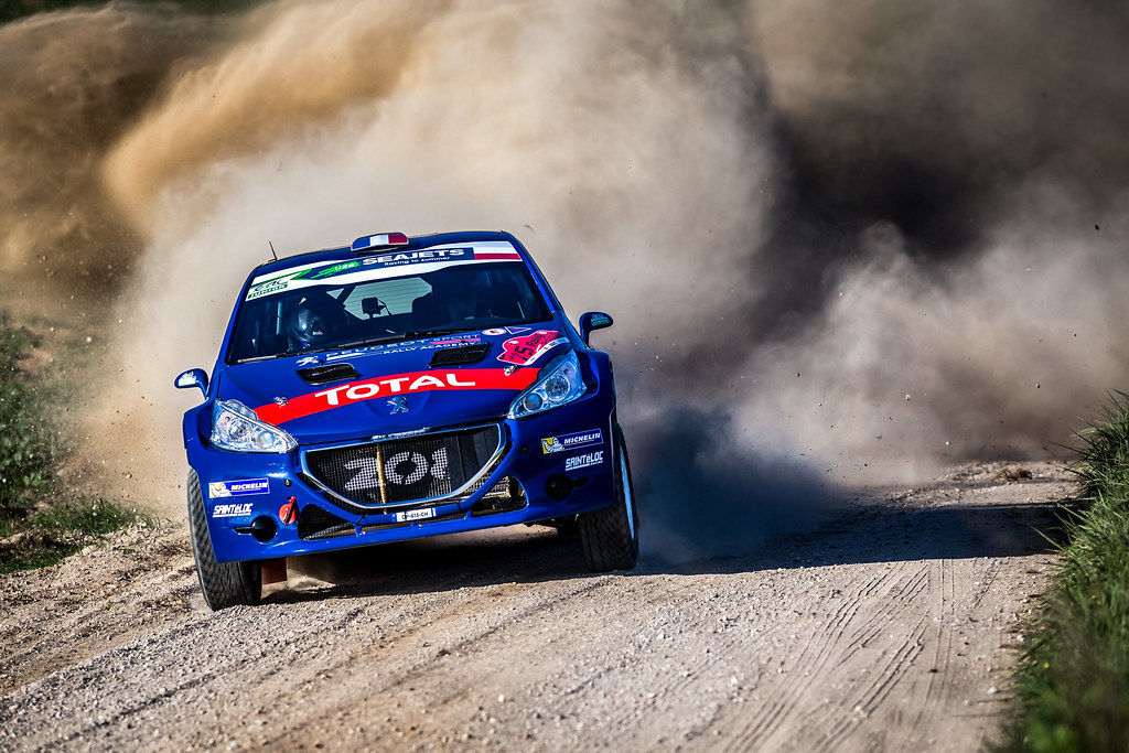 09 PELLIER Laurent (FRA), COMBE Geoffrey (FRA), PEUGEOT RALLY ACADEMY, Peugeot 208 T16, action during the 2018 European Rally Championship Rally Poland at Mikolajki from September 21 to 23 - Photo Thomas Fenetre / DPPI