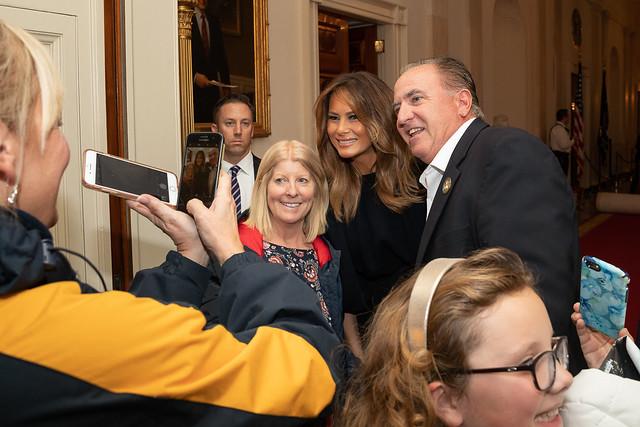 First Lady Melania Trump Surprises White House Tour Visitors