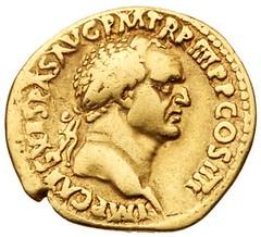 Judaea Capta gold aureus obverse