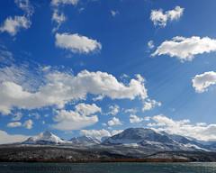 Autumn Clouds and Saint Mary Lake, Glacier County, Montana