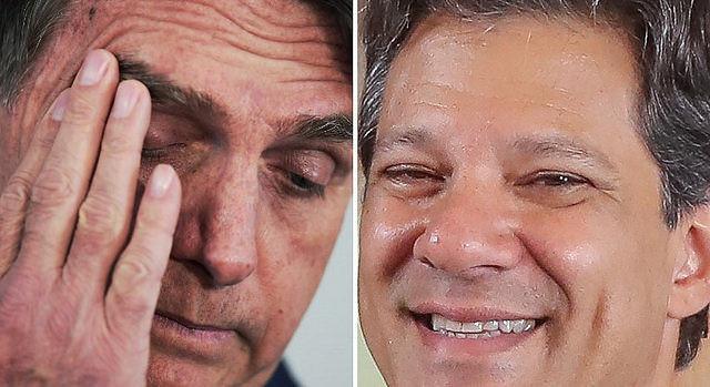 Sondeo | Cinco puntos separan a Haddad de Bolsonaro, según Vox Populi